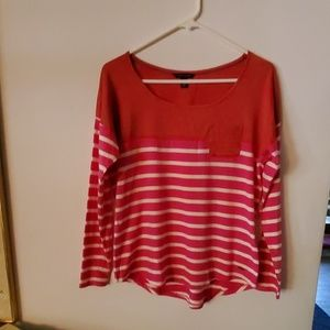 Tommy Hilfiger Red White Stripe Blouse SP
